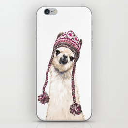 The Llama with Hat iPhone Skin