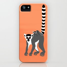 Ring-tailed lemur iPhone Case