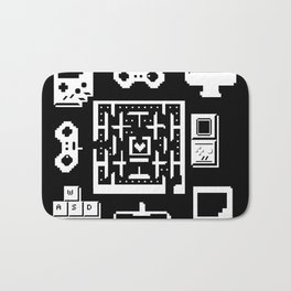 Geek Gamer Pattern Bath Mat