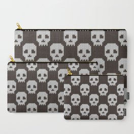 Knitted skull pattern Carry-All Pouch