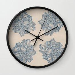 Vintage Geode Stone Pattern in Blue Wall Clock