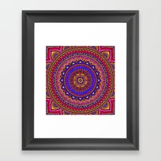 Hippie mandala 42 Framed Art Print
