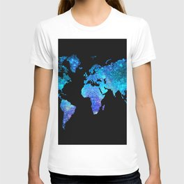 Space World map T-shirt