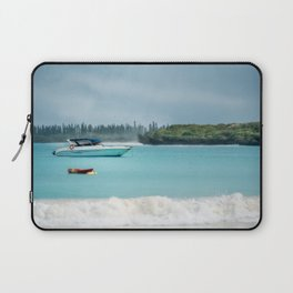 Overcast morning at Kuto Bay on Isle of Pines in New Caledonia. Laptop Sleeve