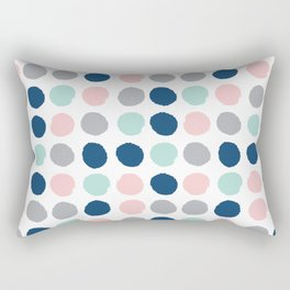 Zanthe - abstract trendy dots polka dots painted dot pattern blue pink pastel pantone color of the  Rectangular Pillow