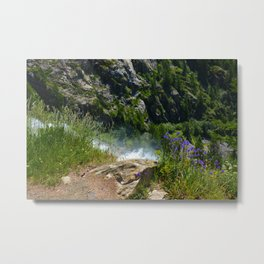 At the Edge of the Waterfall Metal Print