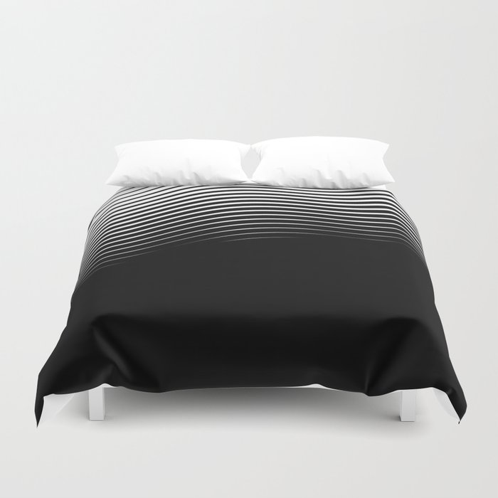 Rising Wave BnW Duvet Cover