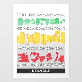 Recycling Piece Art Print