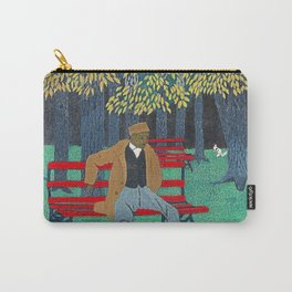 African American Masterpiece 'Man on a Bench' by Horace Pippin Carry-All Pouch