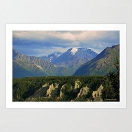 Northern Chugach Mountains Art Print