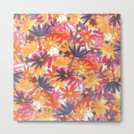Sunset Flower Metal Print