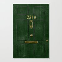 221b Canvas Prints featuring 221B Door by Kristina Moy