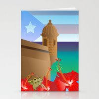 puerto rico Stationery Cards featuring Puerto Rico by PADMA DESIGNS PR