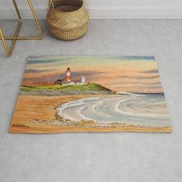 Montauk Point Lighthouse East Hampton New York Rug