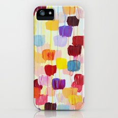 DOTTY - Stunning Bright Bold Rainbow Colorful Square Polka Dots Lovely Original Abstract Painting iPhone (5, 5s) Slim Case