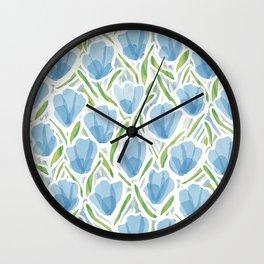 Sanguine Sway Light Blue Wall Clock