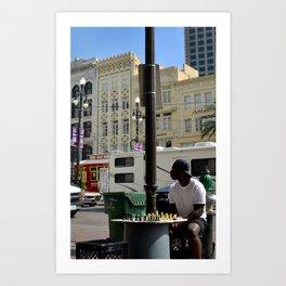 Let's Play Chess Art Print