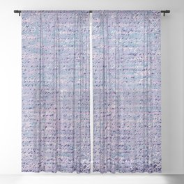 the stars died // text pattern 02 Sheer Curtain