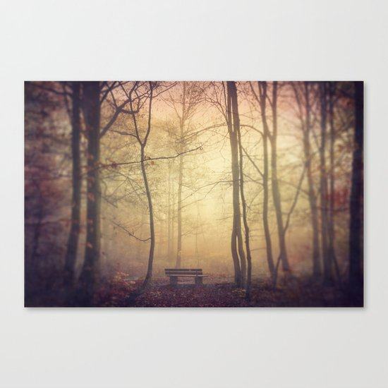 Lover's Bench Canvas Print