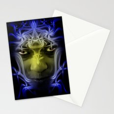 Electric portrait Stationery Cards