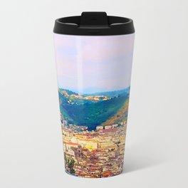 Italian Cityscape Metal Travel Mug