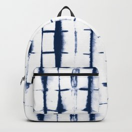 Shibori Stripes 4 Indigo Blue Backpack