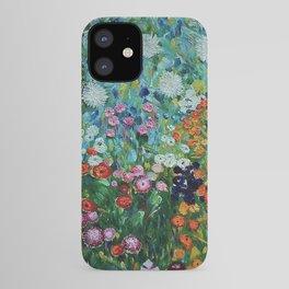 Flower Garden Riot of Colors by Gustav Klimt iPhone Case