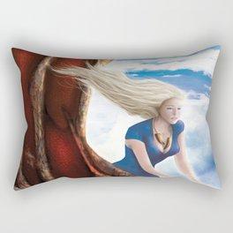 Flying with Drogon Rectangular Pillow