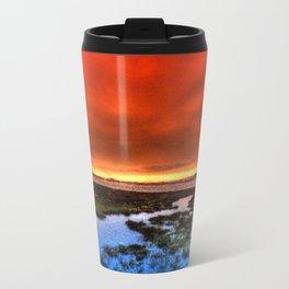 Sunset * Bolsa Chica Wetlands * Huntington Beach, California Travel Mug
