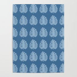 Ocean Beach Theme Palm Leaf Tropical Print Poster