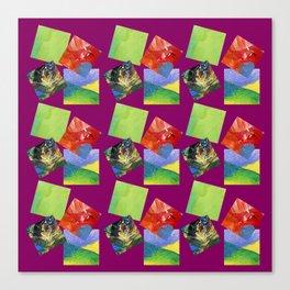 Painted Squares Jiggle - Plum Canvas Print