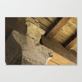 Structural element of ancient greece architecture. (natural version) Canvas Print