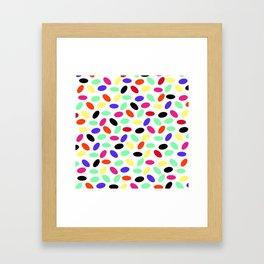 Jellybeans Pattern Framed Art Print