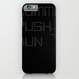 GIT commit debug IT nerd programmer iPhone Case