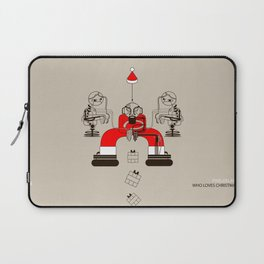 Who loves christmas? Laptop Sleeve