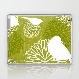 Pom Poms & Birds in Green by Friztin Laptop & iPad Skin