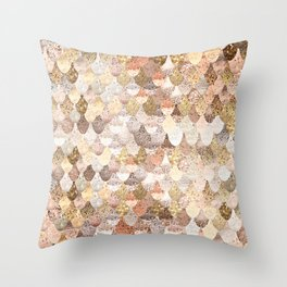 MERMAID GOLD Throw Pillow
