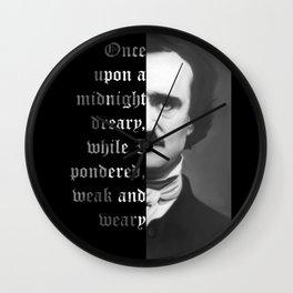 Edgar Allan Poe - word ard Wall Clock