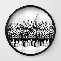 notebook Wall Clocks featuring School notebook 3 by Eva Bellanger