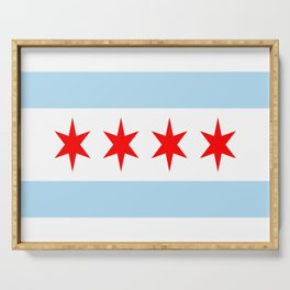 American cities-  Flag of  Chicago Serving Tray