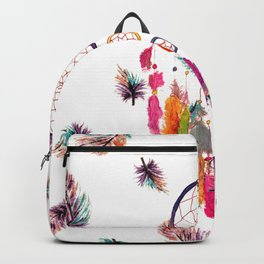 Hipster Watercolor Dreamcatcher Feathers Pattern Backpack
