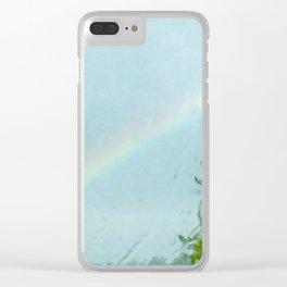 Rainy day rainbow Clear iPhone Case