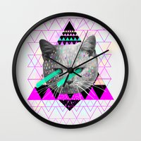 pastel goth Wall Clocks featuring Pastel  by Kris Tate