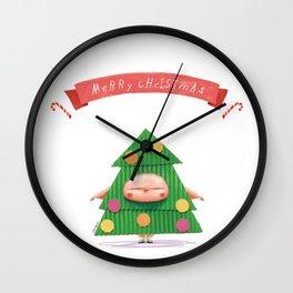 Merrry Christmas Wall Clock