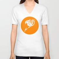fairy tail V-neck T-shirts featuring Fairy Tail Segmented Logo (Guild Hall) circle by JoshBeck