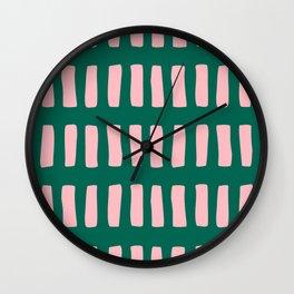 Handrawn Boho Rectangles No 03 Wall Clock
