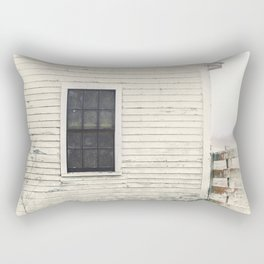 Old Window, vintage farm house Sonoma County Photography, Whitewashed - Old Fence  Rectangular Pillow