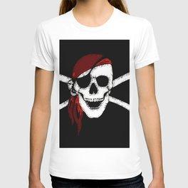 Creepy Pirate Skull and Crossbones T-shirt