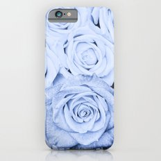 Some people grumble - Blue Rose, Floral Roses Flower Flowers on #Society6 iPhone 6 Slim Case