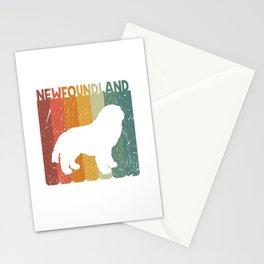 Retro Newfoundland Dog Dog Lover Gift Idea Stationery Cards